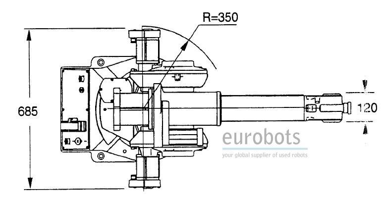 abb irb1400 flexarc m97a s4c with irbp 750k positioner