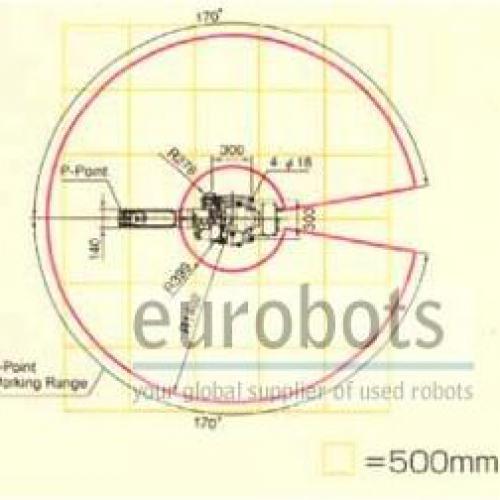 second hand robots used OTC-Daihen ALMEGA AX-V6 arc welding robots